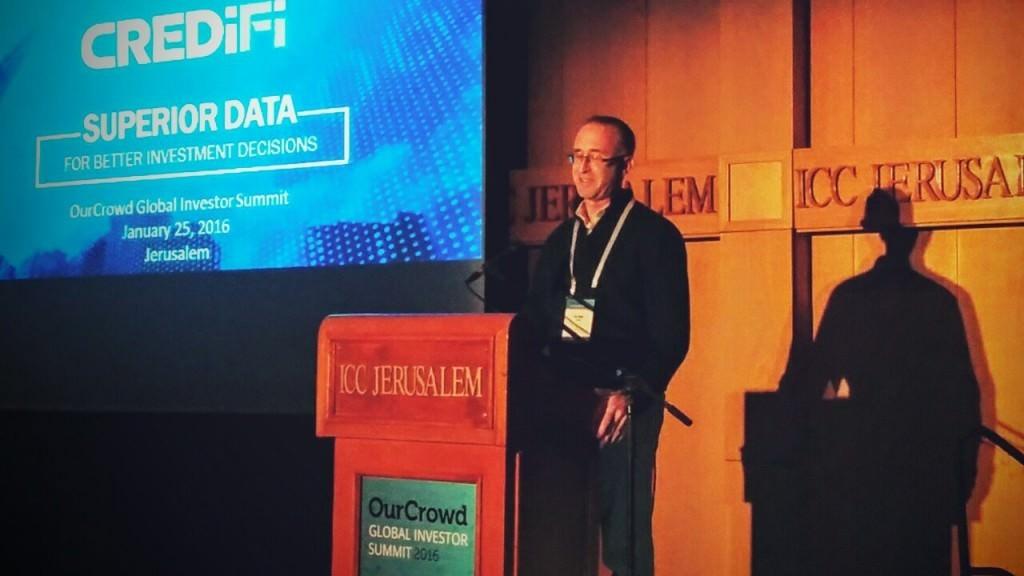 Ely Razin presenting CrediFi, OC Global Summit 2016